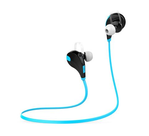 QCY QY7 SPORTS WIRELESS HEADPHONES - BLACK & BLUE