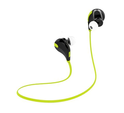 QCY QY7 SPORTS WIRELESS HEADPHONES - BLACK & GREEN