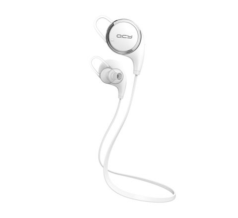 QCY QY8 SPORTS HEADPHONES WIRELESS BLUETOOTH EARPHONES - WHITE