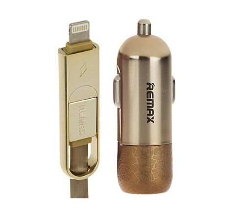 REMAX RC-C103 CAR CHARGER Gold