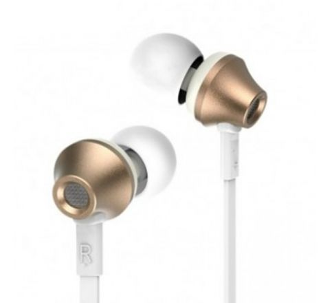 REMAX RM-610D Stereo In-ear Earphone Headphone - Gold