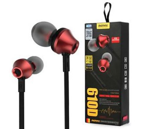 REMAX RM-610D Stereo In-ear Earphone Headphone - Red