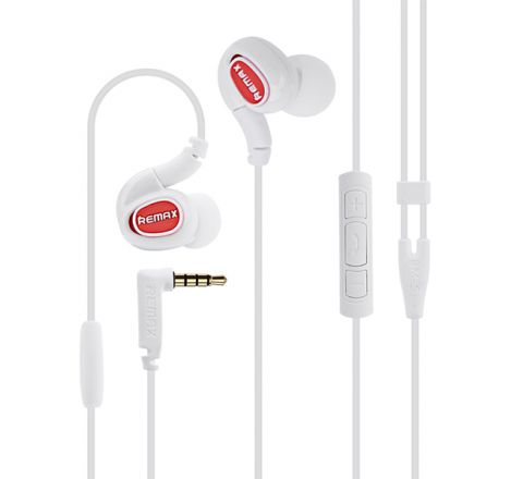 REMAX RM-S1 PRO SPORTS WIRED PORTABLE HEADSET - White