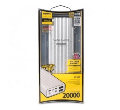 REMAX VENGURD 20000MAH POWER BANK Silver