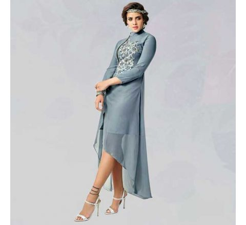 Sasya Kurtis With Heavy Diamond Cut Embroidery - 135