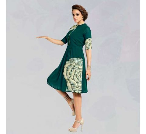 Sasya Kurtis With Heavy Diamond Cut Embroidery - 138