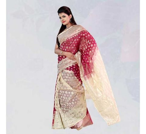Pure Silk Jamdani - 16
