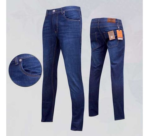 G.H. Bass & Co Blue Washed Non-Stress Jeans - 803