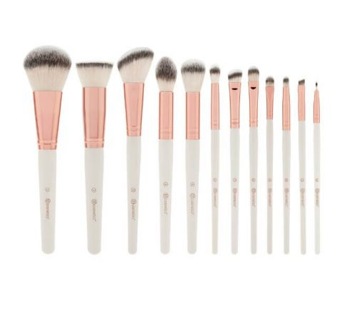 BH Cosmetics - Rosé Romance - 12 Piece Brush Set With Cosmetic Bag