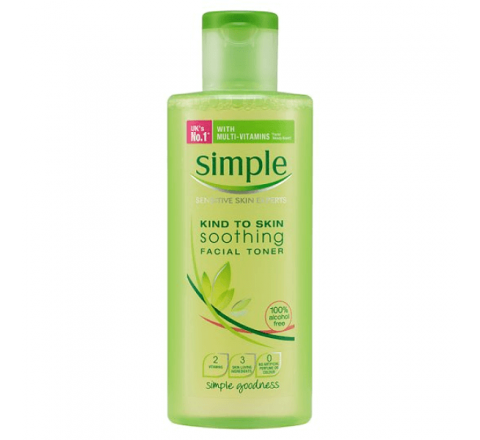 Simple Kind To Skin Soothing Facial Toner with Multi-Vitamins 200ml