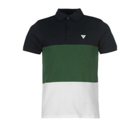 Soviet Cut and Sew Polo Shirt Mens