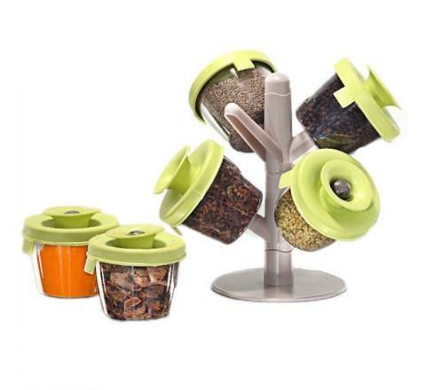 Spicy Jar and Holder Rack