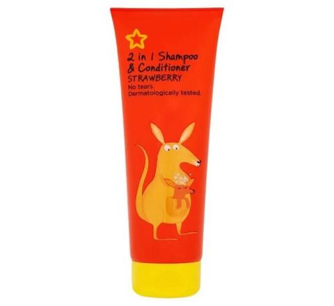 Superdrug Kids Shampoo 2 In 1 Strawberry 250ml