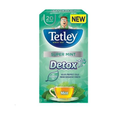 Tetley Super Mint Detox Tea Bags 20 Per Pack