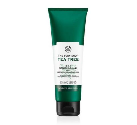 The Body Shop Tea Tree 3 in 1 Wash Scrub Mask 125ml