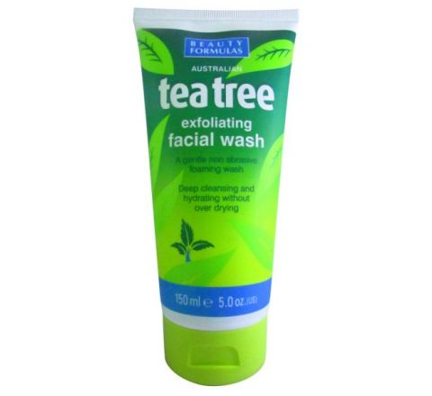 Beauty Formulas Tea Tree Exfoliating Facial Wash 150ml