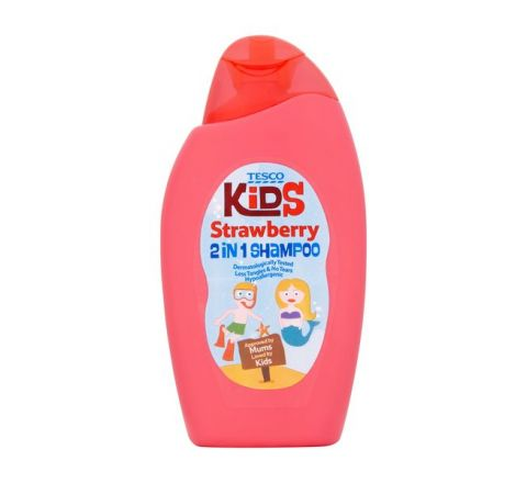 Tesco Kids Strawberry 2 in 1 Shampoo 250ml