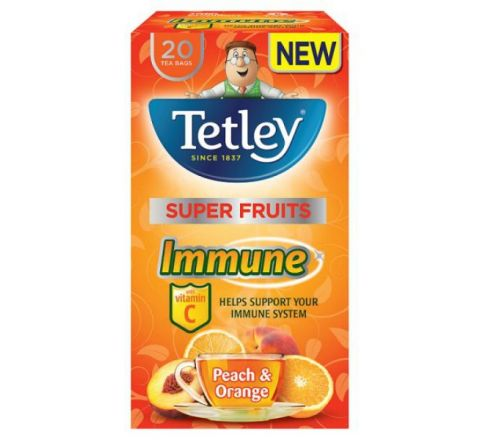 Tetley Vitamin C Peach And Orange - 20 Tea Bags