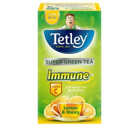 Tetley Immune Lemon And Honey Green Tea - 20 Tea Bags