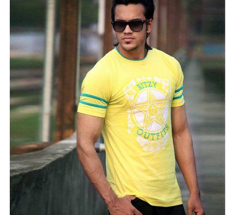 Men's Cotton Half Sleeve T-Shirt - 08