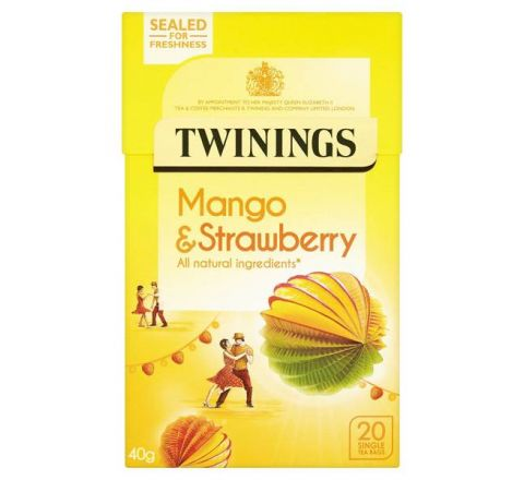 Twinings Mango & Strawberry Tea 20 Per Pack