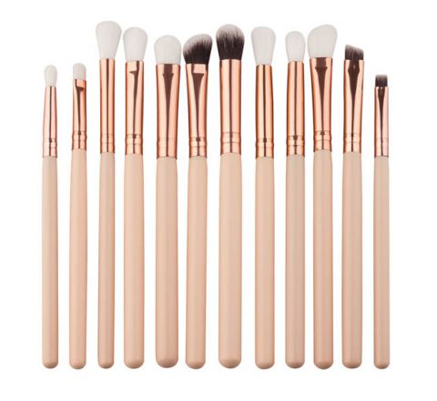 Eyeshadow Make up Brushes Set - 12 pcs