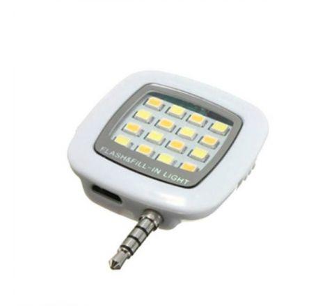 Portable LED Selfie Flash Light - White