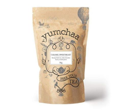 Yumchaa Tea Caramel Sweetheart Loose Leaf Black Blend 80g