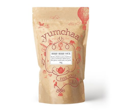 Yumchaa Tea Berry Berry Nice Fruity Loose Leaf Rooibos Blend 80g