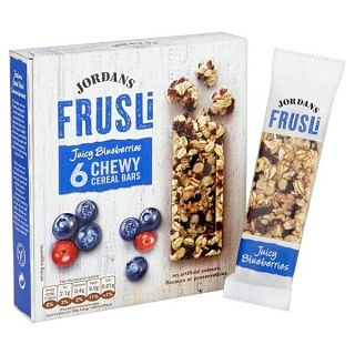 Jordans Frusli Juicy Blueberries Cereal Bars - 6 Pack 30g