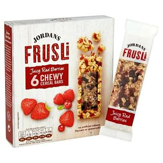 Jordans Frusli Juicy Red Berries Cereal Bars - 6 Pack 30g