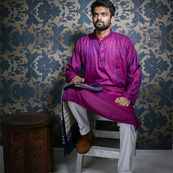 Eid Exclusive Panjabi Purple