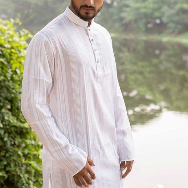 Eid Exclusive White Men's Panjabee POP-4