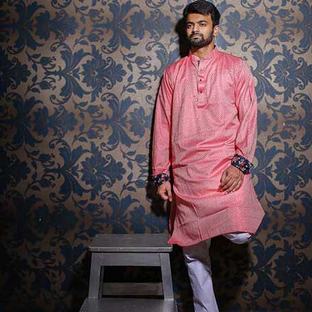 Eid Exclusive Men's Panjabi Pink