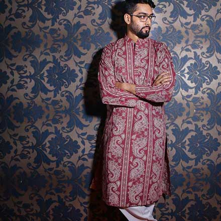 Eid Exclusive Meroon Men's Panjabi