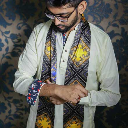 Eid Exclusive Off-White Men's Panjabi