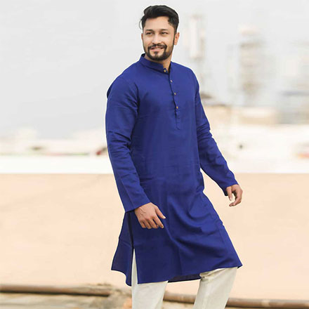 Eid Exclusive Royal Blue Men's Panjabi POP-1