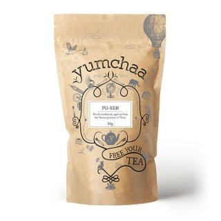 Yumchaa Tea Pu-Erh A Classic Aged Tea Black Blend 80g